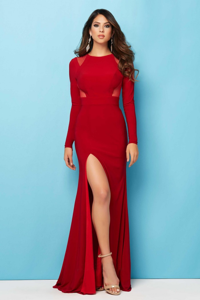 Red Jersey Prom Dress & Elegant And Beautiful