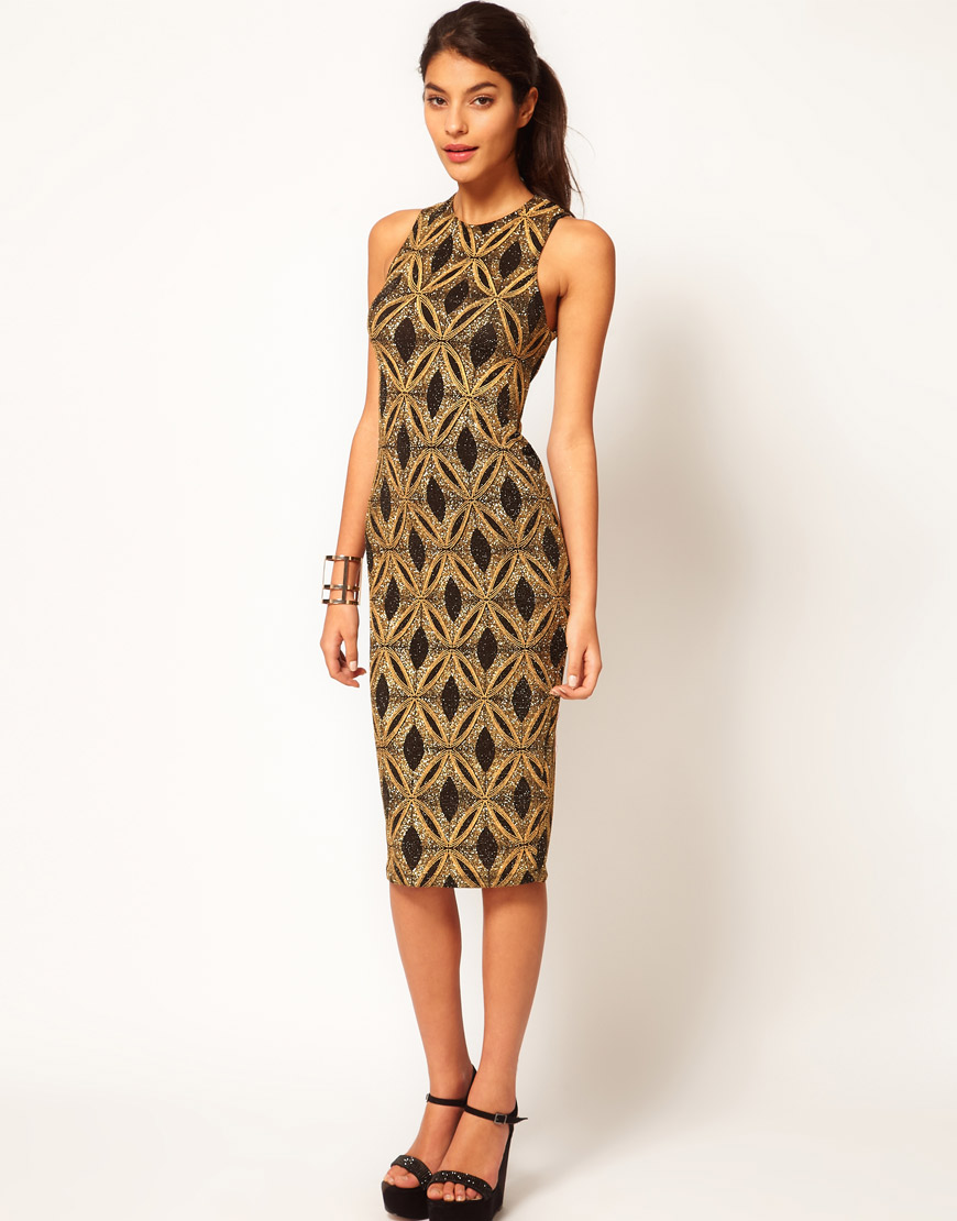 River Island Glitter Bodycon Dress - Oscar Fashion Review
