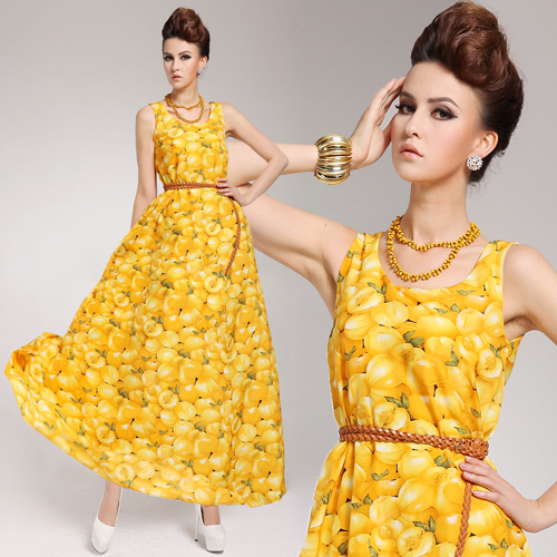 Spring Yellow Dress & Style 2017-2018