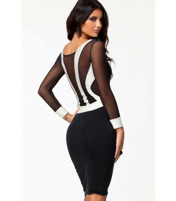 White Bodycon Cocktail Dress - Online Fashion Review